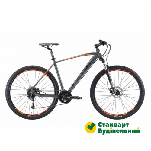 "Велосипед Leon TN-70 AM Hydraulic lock out 14G HD 2019 29"" 19"" Серо-оранжевый (OPS-LN-29-061)"